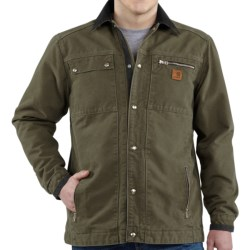 Carhartt Sandstone Multi-Pocket Jacket - Quilt Lined (For Men) in Frontier Brown