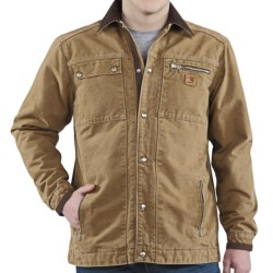Carhartt Sandstone Multi-Pocket Jacket - Quilt Lined (For Men) in Frontier Brown
