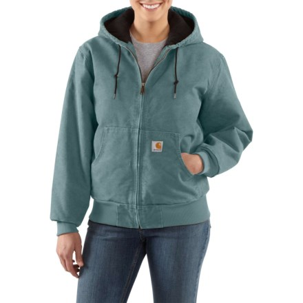 b04ac2b966f35 Carhartt Sandstone Quilted-Flannel Active Jacket - Insulated, Factory  Seconds (For Women)