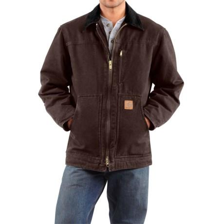 Carhartt Sandstone Ridge Coat - Factory Seconds (For Big Men) in Dark Brown