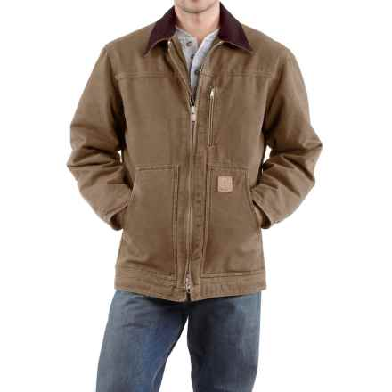 Carhartt Sandstone Ridge Coat - Factory Seconds (For Big Men) in Frontier Brown - 2nds