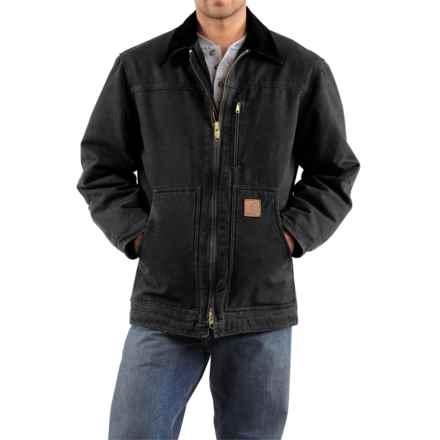 Carhartt Sandstone Ridge Coat (For Big Men) in Black - 2nds
