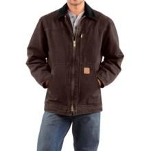 Carhartt Sandstone Ridge Coat (For Big Men) in Dark Brown - 2nds