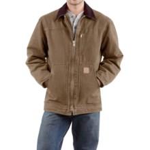 Carhartt Sandstone Ridge Coat (For Big Men) in Frontier Brown - 2nds