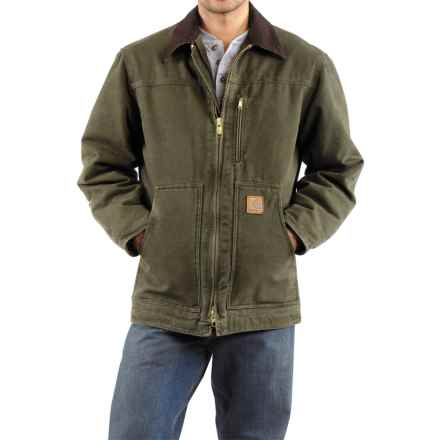 Carhartt Sandstone Ridge Coat - Sherpa Lined, Factory Seconds (For Men) in Army Green - 2nds