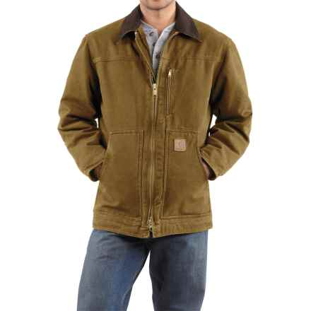 Carhartt Sandstone Ridge Coat - Sherpa Lined, Factory Seconds (For Men) in Frontier Brown - 2nds