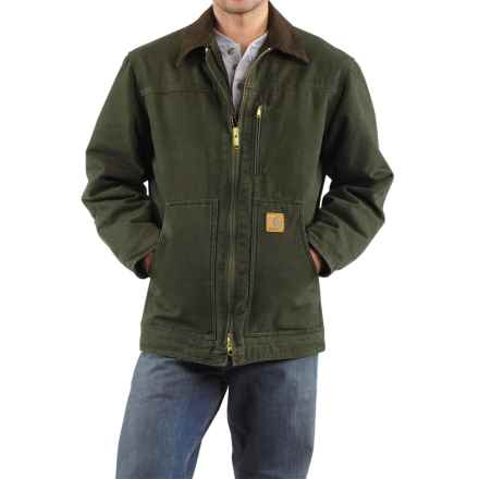 Carhartt Sandstone Ridge Coat - Sherpa Pile, Factory Seconds (For Tall Men) in Moss - 2nds