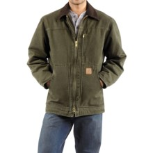 Carhartt Sandstone Ridge Coat - Sherpa Pile Lining (For Men) in Army Green - 2nds