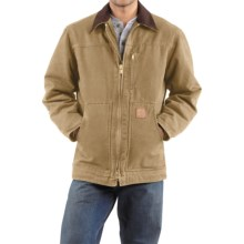 Carhartt Sandstone Ridge Coat - Sherpa Pile Lining (For Men) in Camel - 2nds