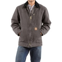 Carhartt Sandstone Ridge Coat - Sherpa Pile Lining (For Men) in Gravel - 2nds