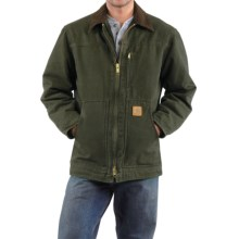 Carhartt Sandstone Ridge Coat - Sherpa Pile Lining (For Men) in Moss - 2nds