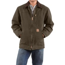 Carhartt Sandstone Ridge Coat - Sherpa Pile Lining (For Tall Men) in Army Green - 2nds
