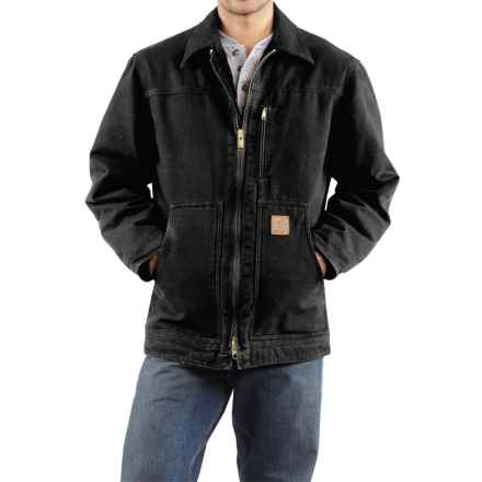 Carhartt Sandstone Ridge Coat - Sherpa Pile Lining (For Tall Men) in Black - 2nds
