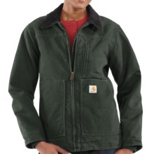 Carhartt Sandstone Ridge Jacket - Sherpa-Lined (For Women) in Moss - 2nds