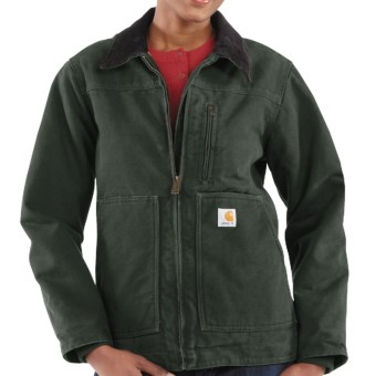 Carhartt Sandstone Ridge Jacket - Sherpa-Lined (For Women) in Moss