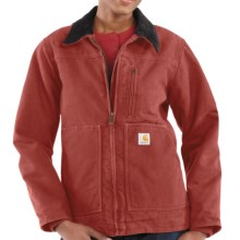 Carhartt Sandstone Ridge Jacket - Sherpa-Lined (For Women) in Vintage Rose - 2nds