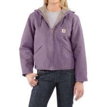 Carhartt Sandstone Sierra Hooded Jacket with Sherpa Lining (For Women) in Purple Sage - 2nds