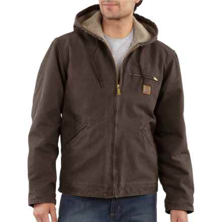 Carhartt Sandstone Sierra Jacket - Factory Seconds (For Big and Tall Men) in Dark Brown - 2nds