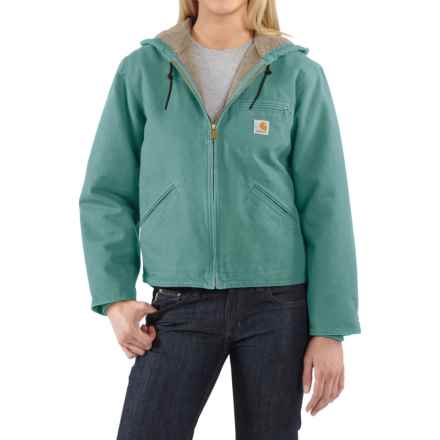 Carhartt Sandstone Sierra Jacket - Sherpa Lined, Factory Seconds (For Women) in Coastline - 2nds