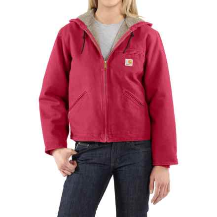 Carhartt Sandstone Sierra Jacket - Sherpa Lined, Factory Seconds (For Women) in Crab Apple - 2nds