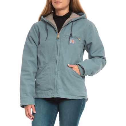 Carhartt Sandstone Sierra Jacket - Sherpa Lined, Factory Seconds (For Women) in Sea Glass - 2nds