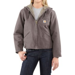 Carhartt Sandstone Sierra Jacket - Sherpa Lined, Factory Seconds (For Women) in Taupe Grey