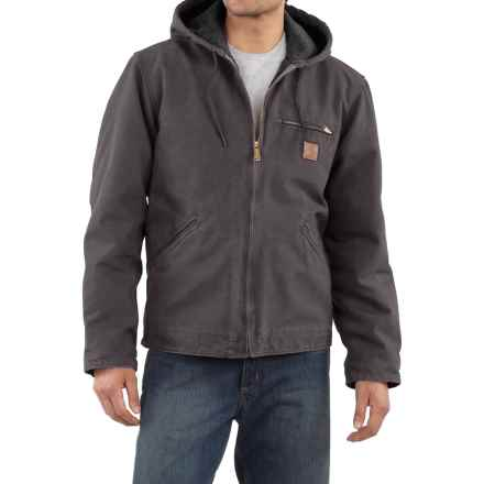 Carhartt Sandstone Sierra Jacket - Sherpa Lining, Factory Seconds (For Big Men) in Shadow - 2nds