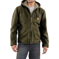 Carhartt Sandstone Sierra Jacket - Sherpa Pile, Factory Seconds (For Men) in Dark Brown