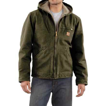 Carhartt Sandstone Sierra Jacket - Sherpa Pile, Factory Seconds (For Men) in Army Green - 2nds