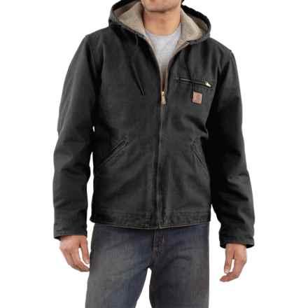 Carhartt Sandstone Sierra Jacket - Sherpa Pile, Factory Seconds (For Men) in Black - 2nds