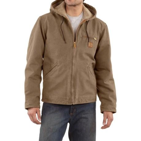Carhartt Sandstone Sierra Jacket - Sherpa Pile, Factory Seconds (For Men) in Light Brown