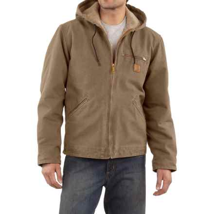 Carhartt Sandstone Sierra Jacket - Sherpa Pile, Factory Seconds (For Tall Men) in Light Brown - 2nds