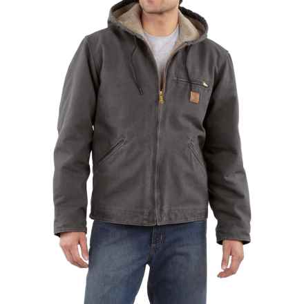 Carhartt Sandstone Sierra Jacket - Sherpa Pile, Factory Seconds (For Tall Men) in Shadow - 2nds