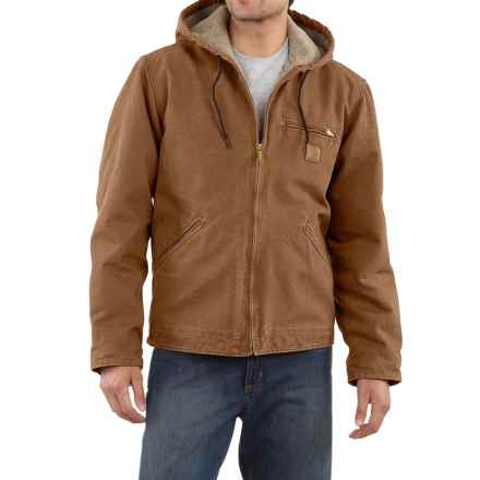 Carhartt Sandstone Sierra Jacket - Sherpa Pile Lining (For Big Men) in Carhartt Brown - 2nds