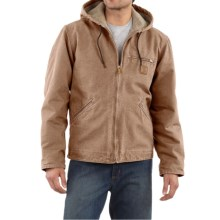 Carhartt Sandstone Sierra Jacket - Sherpa Pile Lining (For Big Men) in Frontier Brown - 2nds
