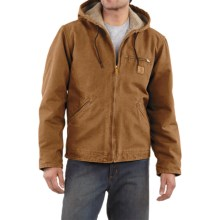 Carhartt Sandstone Sierra Jacket - Sherpa Pile Lining (For Men) in Carhartt Brown - 2nds