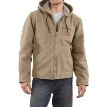 Carhartt Sandstone Sierra Jacket - Sherpa Pile Lining (For Men) in Cottonwood - 2nds