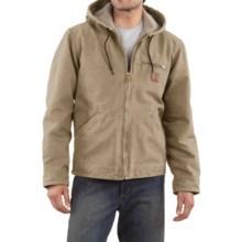 Carhartt Sandstone Sierra Jacket - Sherpa Pile Lining (For Men) in Cottonwood - 2nds