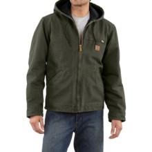 Carhartt Sandstone Sierra Jacket - Sherpa Pile Lining (For Men) in Moss - 2nds