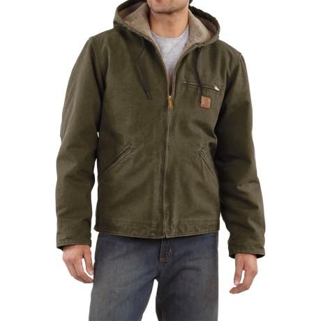 Carhartt Sandstone Sierra Jacket - Sherpa Pile Lining (For Tall Men)