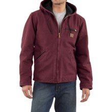 Carhartt Sandstone Sierra Jacket - Sherpa Pile Lining (For Tall Men) in Port - 2nds