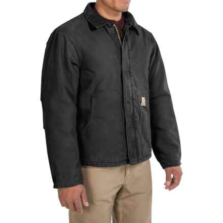 Carhartt Sandstone Traditional Jacket - Insulated, Factory Seconds (For Men) in Black - 2nds