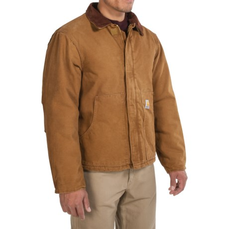 Carhartt Sandstone Traditional Jacket - Insulated, Factory Seconds (For Men) in Carhartt Brown