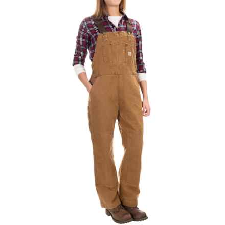 Carhartt Sandstone Unlined Bib Overalls - Factory Seconds (For Women) in Carhartt Brown - 2nds