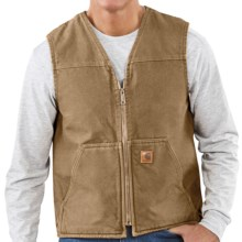 Carhartt Sandstone Vest - Sherpa-Lined (For Tall Men) in Frontier Brown - 2nds