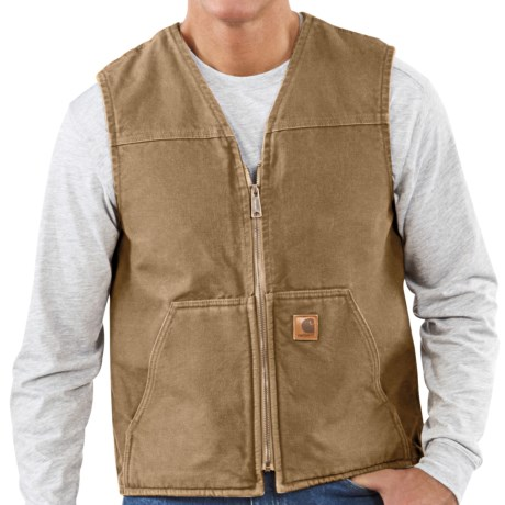 Carhartt Sandstone Vest Sherpa Lined (For Tall Men)