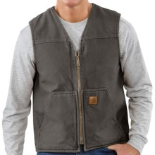 Carhartt Sandstone Vest - Sherpa-Lined (For Tall Men) in Gravel - 2nds