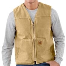 Carhartt Sandstone Vest - Sherpa-Lined (For Tall Men) in Worn Brown - 2nds