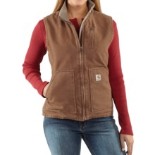 Carhartt Sandstone Vest - Sherpa-Lined (For Women) in Carhartt Brown - 2nds