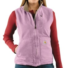Carhartt Sandstone Vest - Sherpa-Lined (For Women) in Faded Petal - 2nds